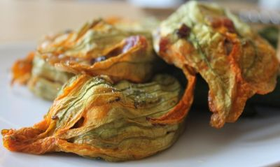 Stuffed Courgette Flowers.