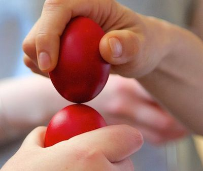 Corfu Recipes - Red Easter Eggs