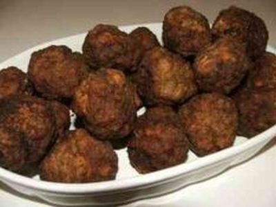 Keftedes or meatballs